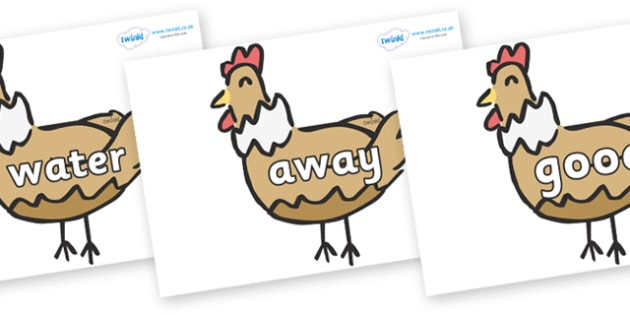Next 200 Common Words on French Hens - Next 200 Common Words on  - DfES Letters and Sounds, Letters and Sounds, Letters and sounds words, Common words, 200 common words