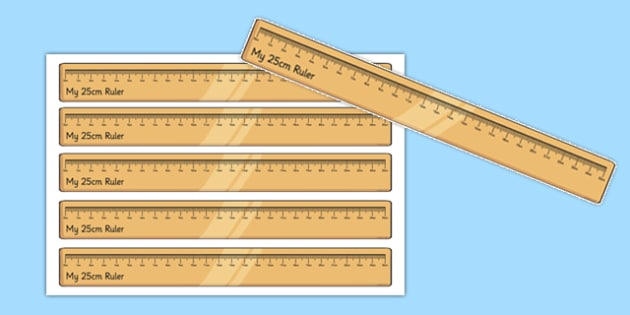 25 Centimetre Ruler Cut Outs - 25 centimetre, ruler, cut outs, centimetre, display