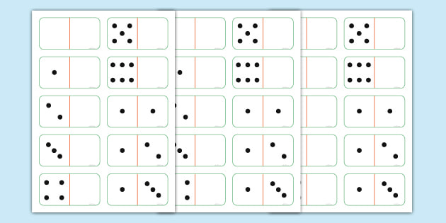 Printable Club Domino Cards - Primary Resources