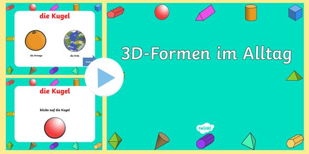 3D-Formen im Alltag PowerPoint Präsentation - Figuren, Körper