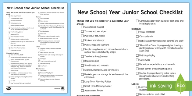 nqt new school year checklist roi nqt checklist teacher planning