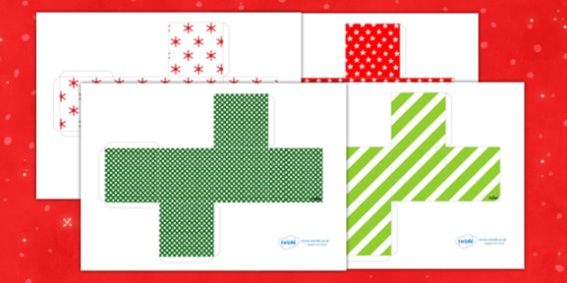 Christmas Gift Box Template.Gift Boxes For Christmas Christmas Gift Boxes Gifts Crafts