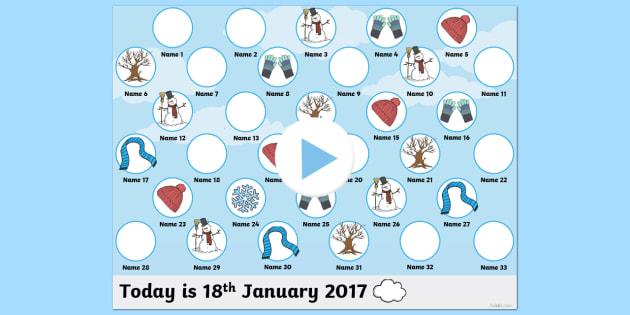Winter Self Reg PowerPoint - winter, self registration, self reg, daily routine, pupil registration, powerpoint, self reg powerpoint, seasona, winter themed