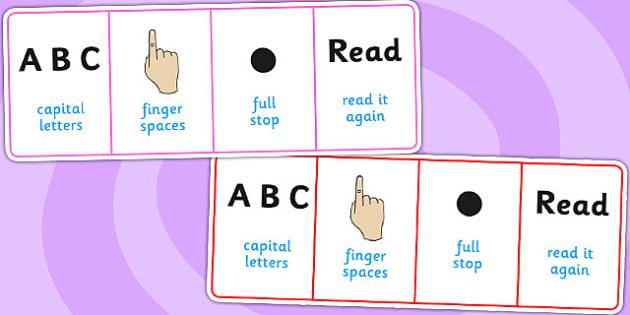 Desk Writing Prompt - visual aid, writing aid, templates, write