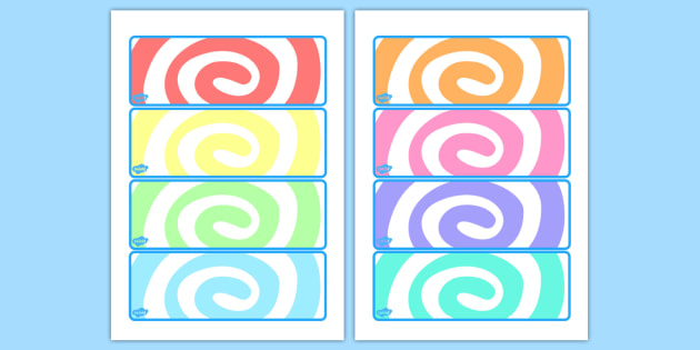 Rainbow Themed Drawer Peg Name Labels - rainbow, labels, display