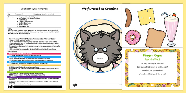 EYFS Feed the Wolf Finger Gym Plan and Resource Pack