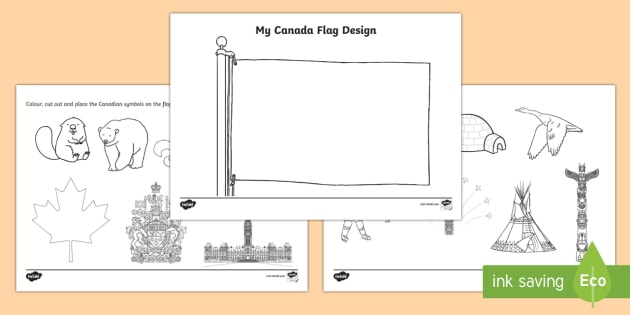 create your own canada flag worksheet activity sheet