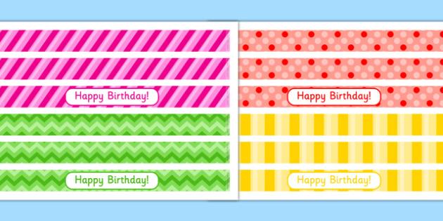 7th Birthday Party Cake Ribbon - 7th birthday party, 7th birthday, birthday party, cake ribbon