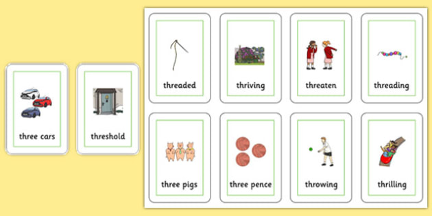 Two Syllable THR Playing Cards - speech sounds, phonology, articulation, speech therapy, cluster reduction