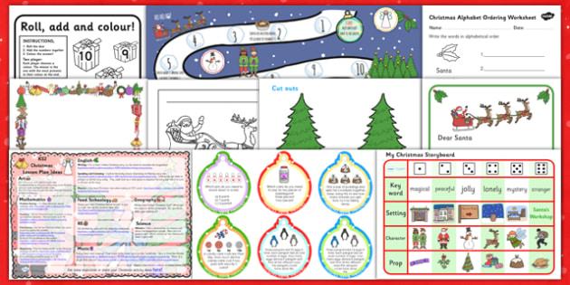 KS1 Christmas Resource Pack - resource, pack, ks1, christmas