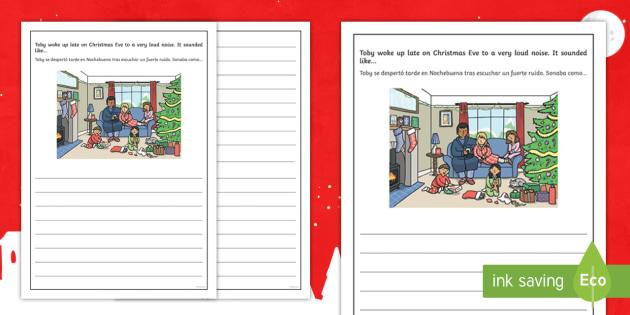 Christmas Story Starter Father Christmas Writing Template