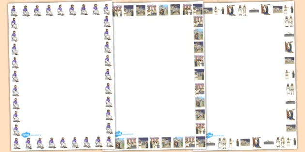 The Wedding Feast Page Borders - parables, wedding feast, feast