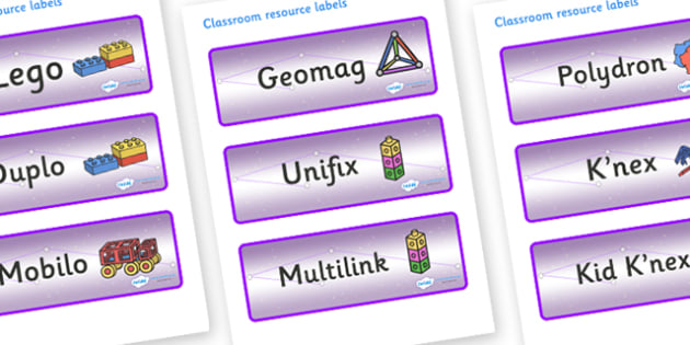 Chameleon Star Constellation Themed Editable Construction Area Resource Labels - Themed Construction resource labels, Label template, Resource Label, Name Labels, Editable Labels, Drawer Labels, KS1 Labels, Foundation Labels, Foundation Stage Labels