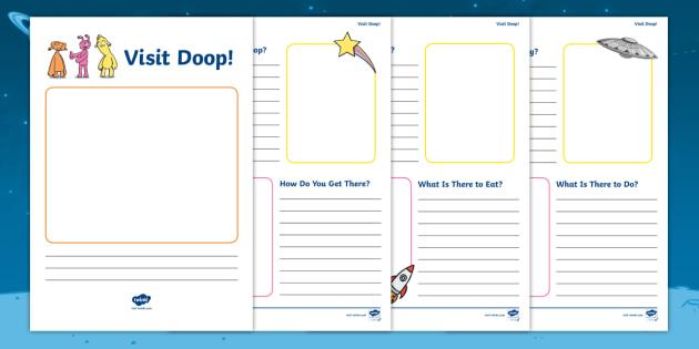 The Best Dress Ever: Visit Doop! Space Travel Brochure