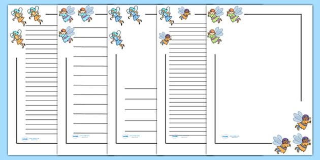 Fairy Page Borders - Fairies, Fairy, topic, fantasy, page border, a4 border, template, A4