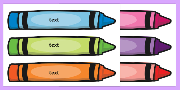 Crayon tray labels tray labels pencil labels stationary for Crayon label template
