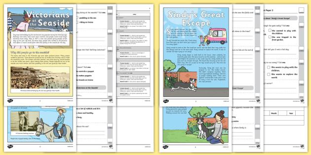 Year 2 Reading Assessment Term 2 Paper 2 - formative, summative, diagnostic, fiction, non-fiction