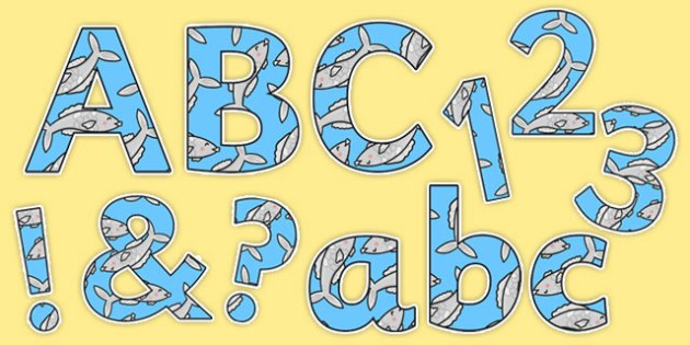 The Little Fish Display Lettering Pack - Tiddler, fish, sea, under the sea, water, ocean, story, storybook, eyfs, early years, ks1, letters, numbers display, signs, labels, small