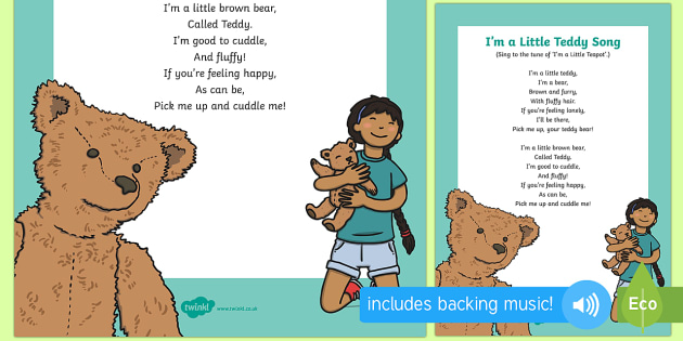 I'm a Little Teddy Song - Toys, songs, singing, music, early years, eyfs, music