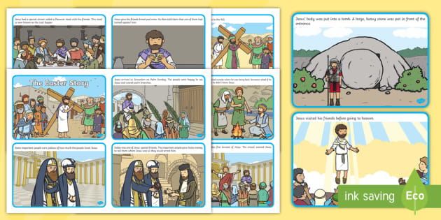 FREE KS1 The Easter Story Sequence Cards