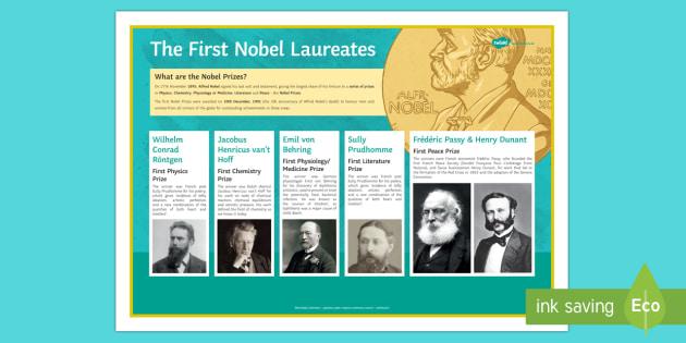 The First Nobel Laureates Nobel Prize