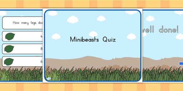 Minibeasts Quiz PowerPoint - quizzes, games, classroom quizzes