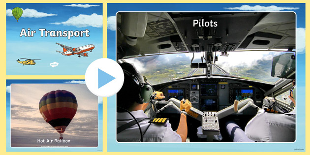 Air Transport Photo PowerPoint - powerpoint, power point, interactive