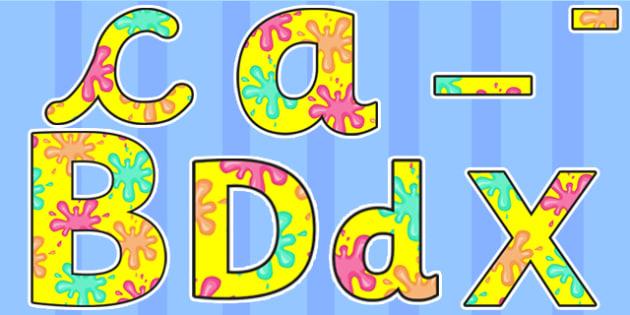 Splat Themed Display Lettering - splat, lettering, display