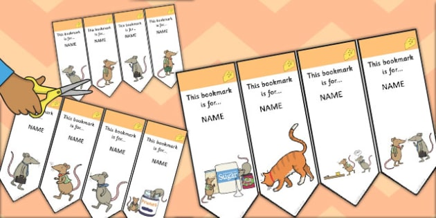 The Town Mouse and the Country Mouse Editable Bookmarks - book