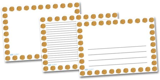 Marigold Flower Landscape Page Borders- Landscape Page Borders - Page border, border, writing template, writing aid, writing frame, a4 border, template, templates, landscape