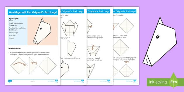 Gweithgaredd Origami'r Fari Lwyd - Nos Galan, Dathliadau ... - photo#16