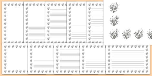 Hazel Tree Themed Page Borders - hazel tree, themed, page borders, page, borders