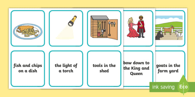 FREE! - Phase 3 Captions And Pictures Matching Cards - word ...