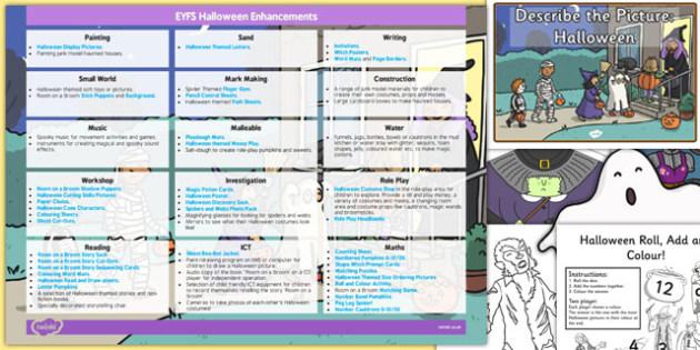 EYFS Halloween Enhancement Ideas and Resources Pack - eyfs, halloween, enhancement, ideas, planning
