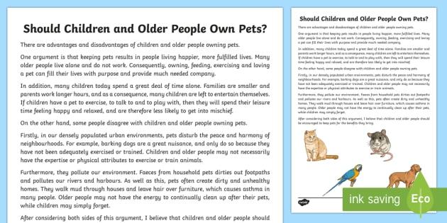 writing about pets