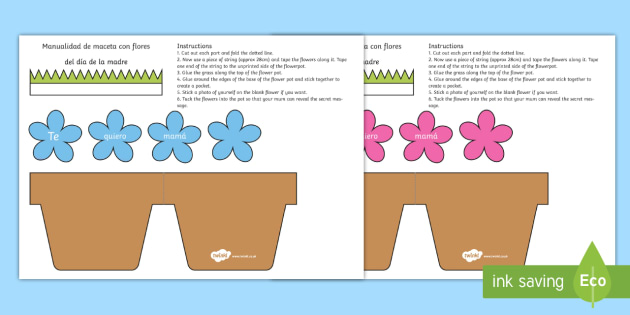 Australia Mothers Day Flowers in Pot Card Craft