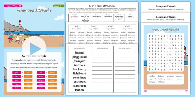 Year 1 Term 3B Week 4 Spelling Pack (teacher made)