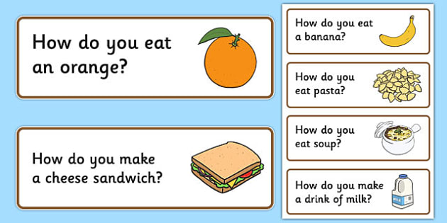 50 How Question Cards - question words, narrative, sequencing, life skills, quick listening games, starter games