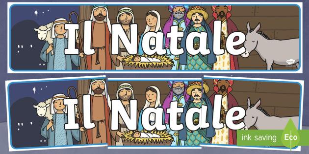 Striscione Natale - Striscione natalizio, natale, nativita', Striscione, festivo, feste