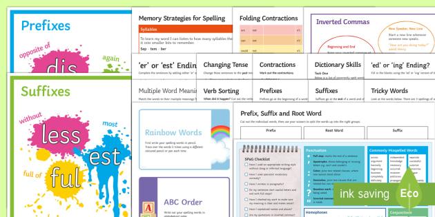 Bumper SPaG Catch-Up Resource Pack - SPAG, catch up, SEN, spelling, grammar, punctuation, GPS, revision,