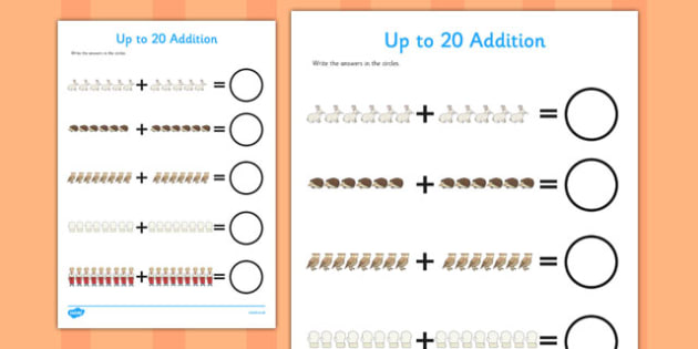 The Mitten Up to 20 Addition Sheet - the mitten, addition, sheet