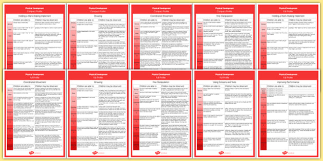 Foundation Phase Profile - Physical Development Display Posters Full and Compact Versions Welsh - Foundation Phase Profile, Psychical Development, Planning, Display Posters, assess, plan, wales