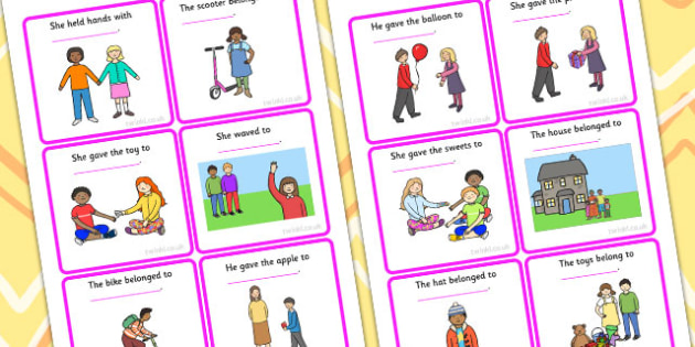 Him Her Them Finish The Sentence Picture Description Cards