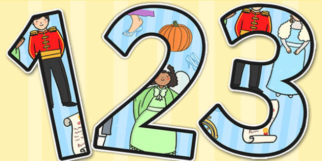 Cinderella Themed Display Numbers - cinderella, display, number