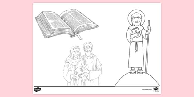 Free Printable Bible Colouring Page Creation (teacher Made)