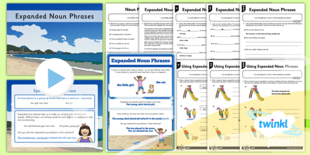 PlanIt Y2 SPaG Expanded Noun Phrases - GPS, grammar, nouns, noun phrases, expanded noun phrases