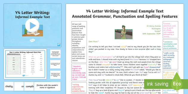 Year 4 letter writing informal modelexample text example year 4 letter writing informal modelexample text example texts y4 year spiritdancerdesigns Gallery