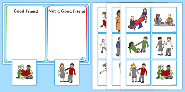 Good Friend Discussion And Sorting Cards Good Friends