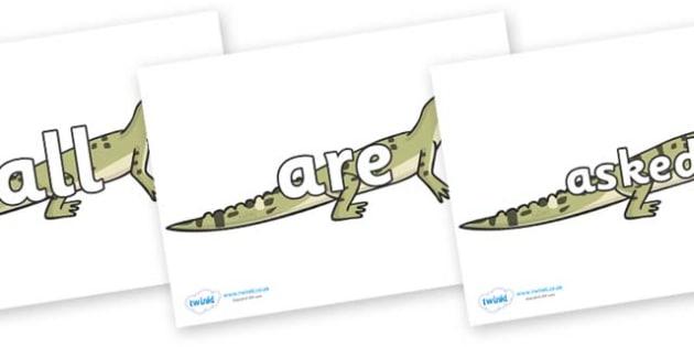 Tricky Words on Aligators - Tricky words, DfES Letters and Sounds, Letters and sounds, display, words