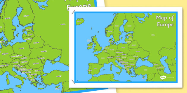 map of europe poster map europe poster display continent